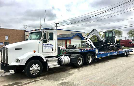 Equipment Delivery Services in the Greater Chicagoland area
